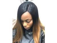 BLACK HAIRDRESSER/SALON , CROCHET BRAIDS , LACE FRONTAL , FAUX LOCS ,SILK PRESS , 360 WEAVE, LONDON