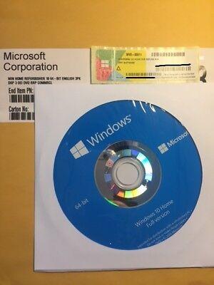 Genuine Microsoft Windows 10 Home 64-bit - License + Activation Key