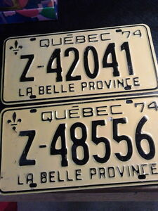 Licence Plates - Quebec 1974 London Ontario image 1