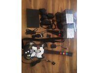Playstation 2 Mega Bundle - games/controller/eye-toy/Guitar Hero