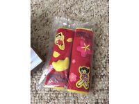 Pair of Genuine Astro boy 3D Car Seat Safety Belt Pads Shoulder Cover Protector Paypal accept