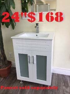 "MODERN BATHROOM VANITY 24""  $168.   SHOWER DOOR SALE"