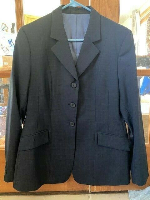 RJ Classics Essential Collections Navy Pinstripe Show Coat - Size 10R