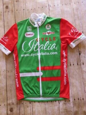 1c099a50c6e Cycle Italia Bike Jersey Green Red White Large Italy SMS Bicycle Cycling  Bike