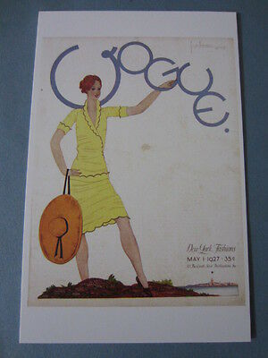 MINT POSTCARD GEORGES LEPAPE VOGUE COVER MAY 1 1927