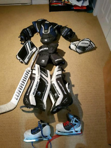 Youth goalie gear. Age 5 to 8. Asking 250 for everything