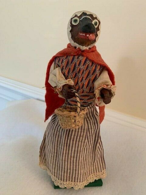 "Antique German Little Red Riding Hood ""Wolf"" Candy Container"