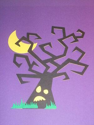 SPOOKY  TREE********CRICUT HALLOWEEN DIE CUT~~~CARDS**SCRAPBOOKING****WORLDWIDE - Halloween Cards Cricut