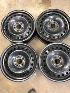 "4 - 2012 Ford Focus OEM 16"" Steel Rims 5X108 in Excellent Condition"
