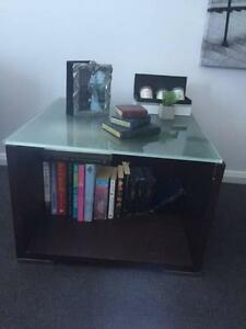 Two Timber and Glass Coffee Table Black Rock Bayside Area Preview