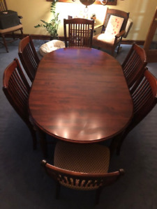 Cherry Finish on Maple Canadel Dining Room Set