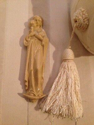 Art Deco Madonna Maria Keramik Mutter Gottes Wand Skulptur