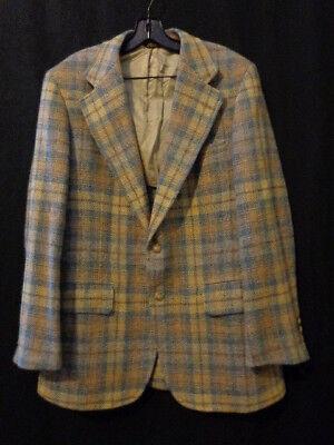 Vintage Mens Knickers Blazer Wool Plaid Sz 40 Blue/Tan