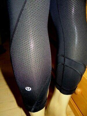 LULULEMON RUN: INSPIRE CROP Rare Solid Black Luxtreme leggings pants-size 6-EUC!