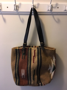 wool/leather bags