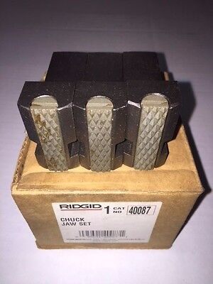 Ridgid 1224 Pipe Threader Front Chuck Jaws Inserts Set 48007 711 714 Die Head