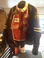 Vanson Leathers Race Jacket W/Patches Size 56
