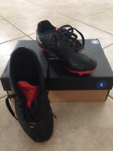 Kids Soccer Cleats - size 1 (Two pairs available)