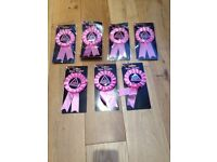 Hen Party Accessories Miss Behave Hen Party Rosette - Pink