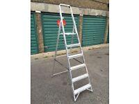 2 x Swingback Steel Platform Ladders :: GOOD CONDITION