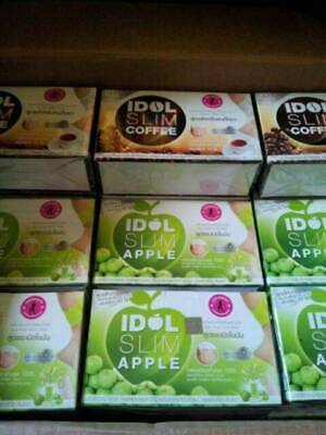 10x IDOL Slim Apple Drink Fruit Lose Weight Diet Burn Fat Body Radiant Skin