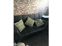 Faux Leather Sofa Bed (Never Been Used)