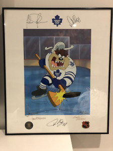 Toronto Maple Leafs signed Tazmanian Devil Collectable