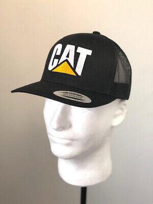 Caterpillar Heavy Equipment (Caterpillar CAT Heavy  Equipment Trucker Twill Mesh Diesel Cap Hat Cap  Black)