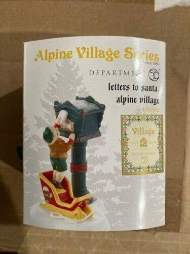 DEPT 56 ALPINE VILLAGE Accessory LETTERS TO SANTA, ALPINE VILLAGE NIB