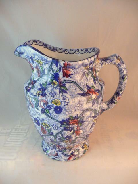 SUPERB MALING WARE CHINTZ PITCHER MADE FOR RINGTONS TEA Ltd c1930
