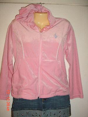 Ladies Womens-Baby Phat-Light Pink Velvet-Club Hooded Jacket - Baby Pink Lady Jacket