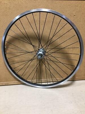 "24/"" REAR BLACK//SILVER ALUMINUM BICYCLE BIKE RIM//HUB RMR96"