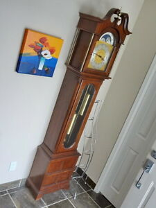 "Ridgeway Grandfather 84"" Floor Clock - 15# Triple Chimes"