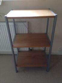 Shelf unit - 3 open shelves, very good condition