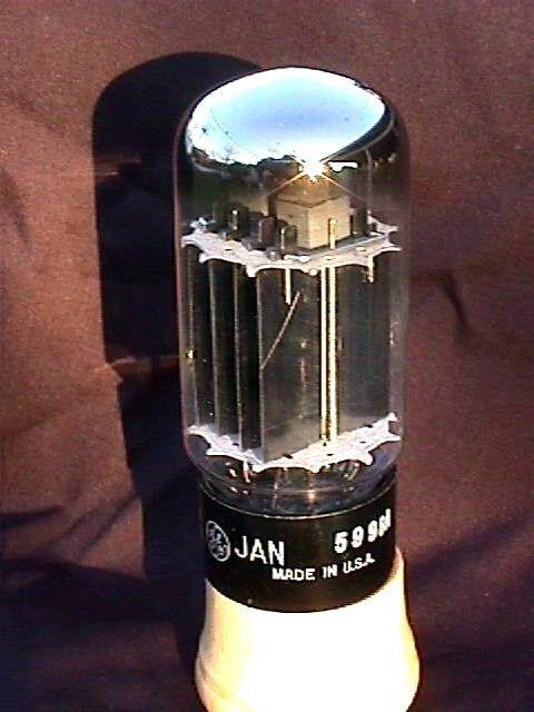 5998A Dual Triode Vacuum Tube NOS General Electric J.A.N. 6AS7 421A 5998 A
