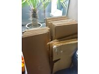 FREE! Approx 30 large double wall strong flat packed house moving boxes