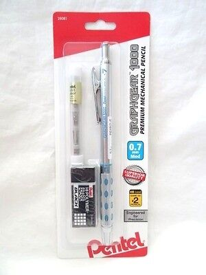 Pentel Graphgear 1000 0.7mm Premium Mechanical Pencil Erasers New