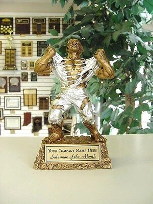 Salesman Employee Of The Month Award Trophy Monster Free Lettering