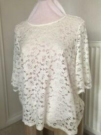 New Cream Lace Top (DP) Size 18 (with tag attached)