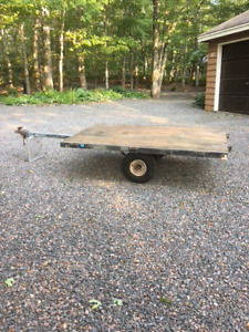 REDUCED-4' x 7' STEEL FRAME TRAILER-REDUCED