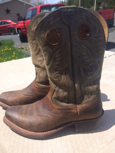 Ariat Mens Heritage Roughstock Square-Toe Western Boot SIZE 12EE