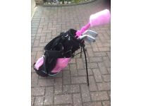 Girls Golf Clubs with Stand bag