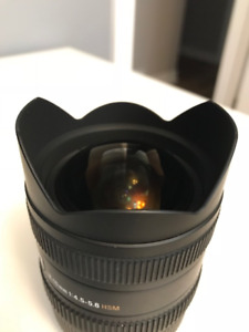 Sigma 8-16mm Ultra-Wide F/4.5-5.6 DC HSM Lens - Canon Mount
