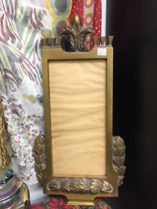 Antique French brass Empire-style frame