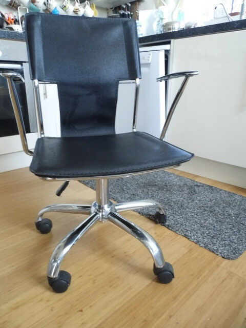 Dining/Office Chair with Chrome Legs with Castor Wheels and ...