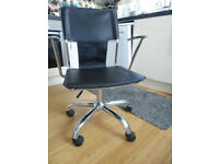 Dining/Office Chair with Chrome Legs with Castor Wheels and Hydraulic Seat Lift