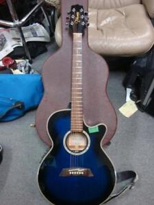 Takamine EG560C Mini-Jumbo Acoustic-Electric Blue with case