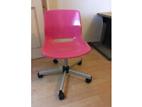 Ikea Snille Desk Chair - Pink