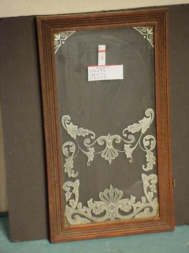 Walnut Gingerbread Door & Glass -    # 4