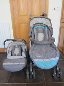 Silver Cross 3D Pram Travel System - Coast **Great Condition**